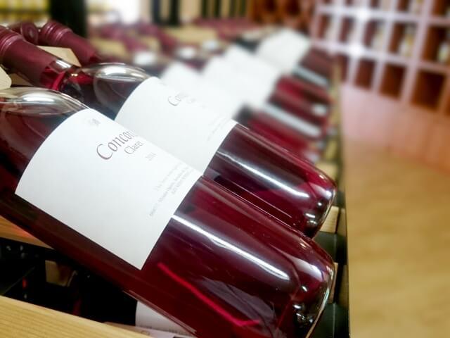 ずらりと並ぶワイン
