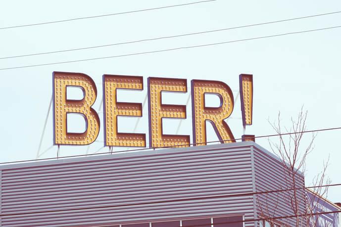 ビールの看板