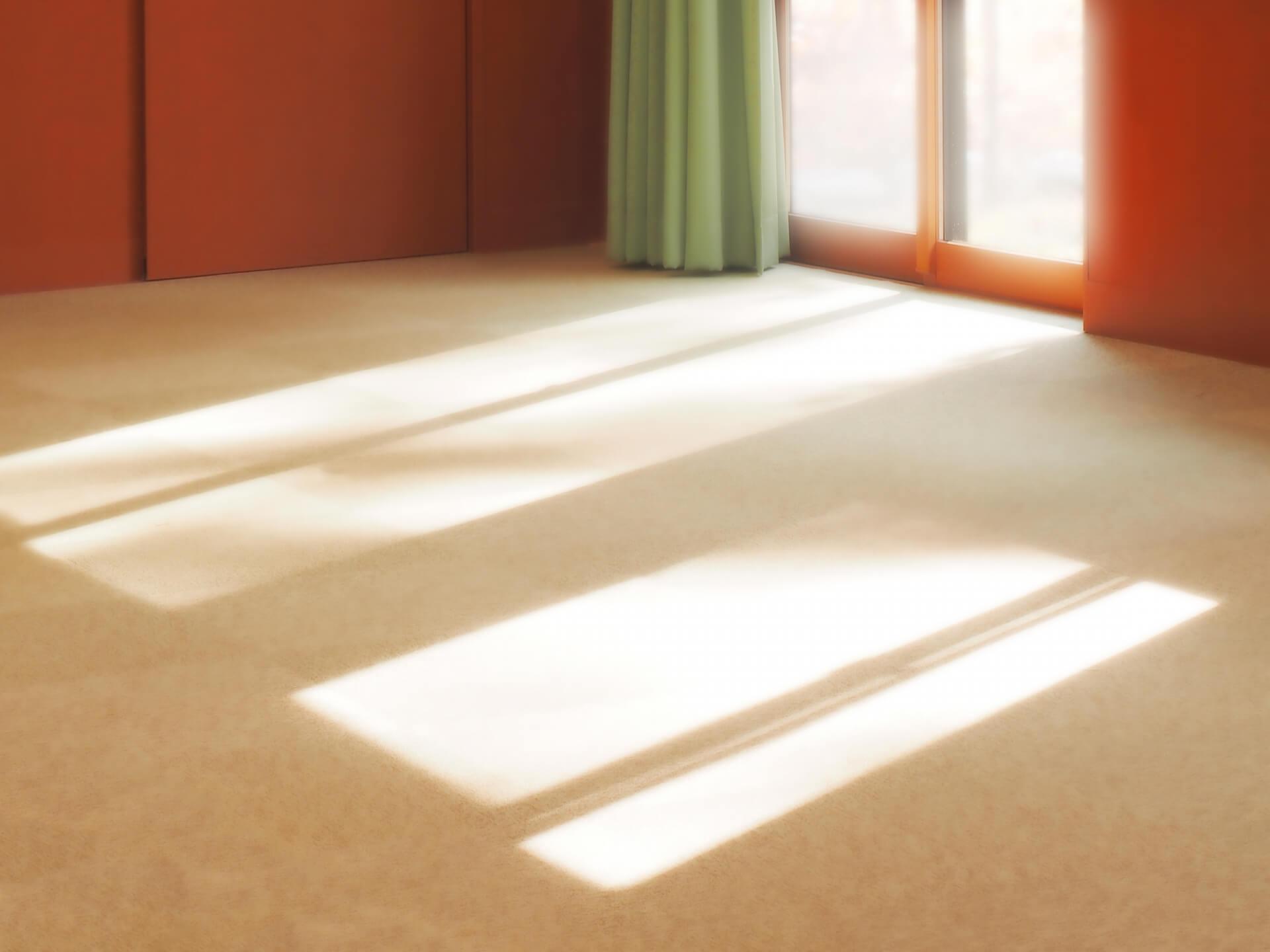 日光の当たった部屋